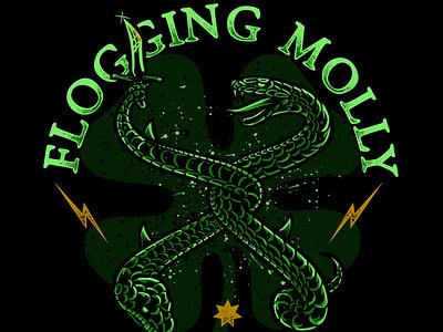 Flogging Molly - Snakes design apparel lettering illustration merchandise punkrock floggingmolly