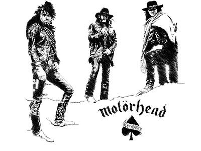 Motorhead - Ace Of Spades Sketchy Portrait illustration graphicdesign merchandise motorhead