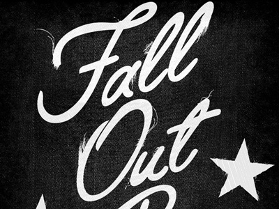Fall Out Boy - Tattered Lettering