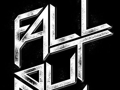 Fall Out Boy - Sharp Typography