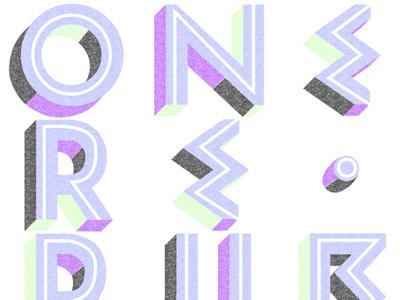 OneRepublic - Logo Treatment onerepublic merchandise typography