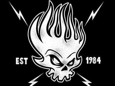 The Offspring - Flaming Skull punkrock merchandise theoffspring vector