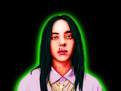 Billie Eilish -Digital Paintings wacom merchandise illustration digitalpainting billieeilish