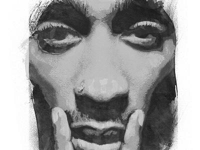 2Pac - '20 Anniversary' merchandise illustration digitalart 2pac tupac