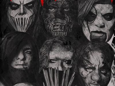 Slipknot - We Are Not Your Kind charcoal merchandise illustration wanyk slipknot