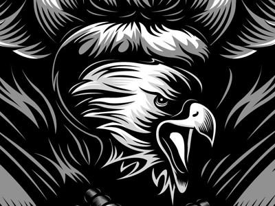 Eagle Illustration for Harley Davidson