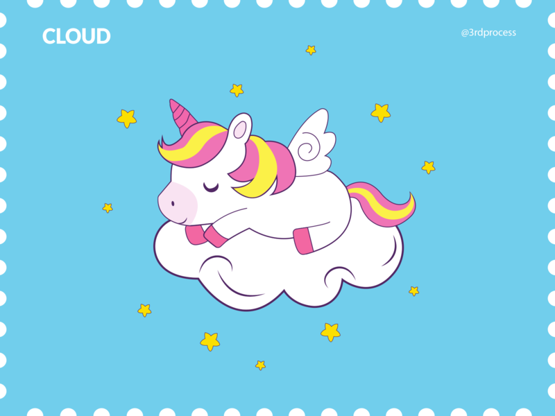 Cloud - Day 5 rainbow star stars clouds cloud unicorns unicorn animation simple simpleillustration vector illustrator illustration design flat 100daysofillustration 100dayschallenge