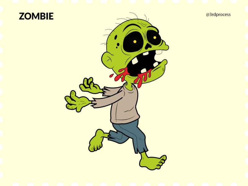 Zombie - Day8 zombies zombie animation simpleillustration simple illustrator vector illustration design flat 100daysofillustration 100dayschallenge