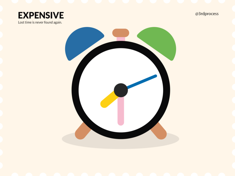 Time (Expensive) - Day10 expensive time clocks clock art simpleillustration simple illustrator vector design illustration flat 100daysofillustration 100dayschallenge