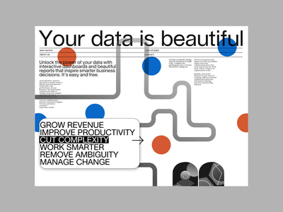 👉 Your data is beautiful Interaction interaction interaction design circles dots swiss design swiss style prototype product design minimal vector animation web ux typography simple design geometic ui design