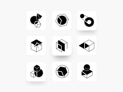 #Magic data Icons shadow digital web minimalism monochrome black  white blur magic flat vector icon app minimal branding illustration geometic simple design design