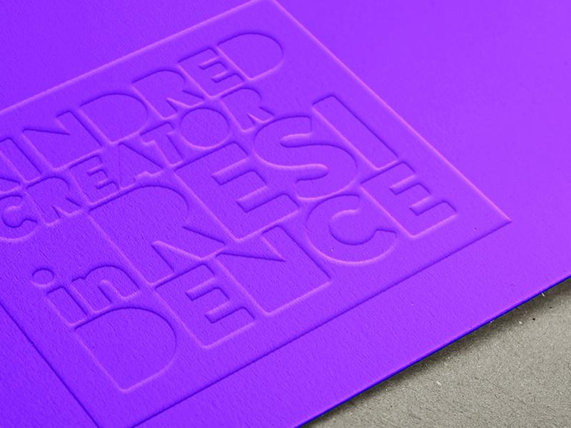Kindred - Creator at Residence program Logo simple design geometic typography branding illustration vector logo