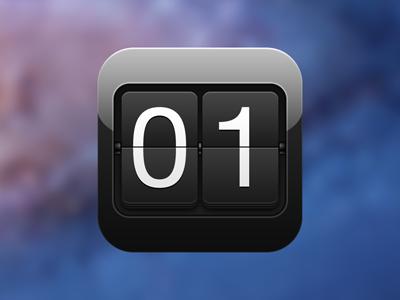 Counters App Icon apple retina mac ios iphone ipod ipad app icon black icons gloss counters markpixel madfork