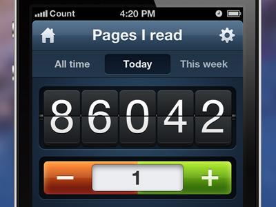 Counters App - Counter counter gloss apple iphone ios app green red plus minus retina mac retina retina cool