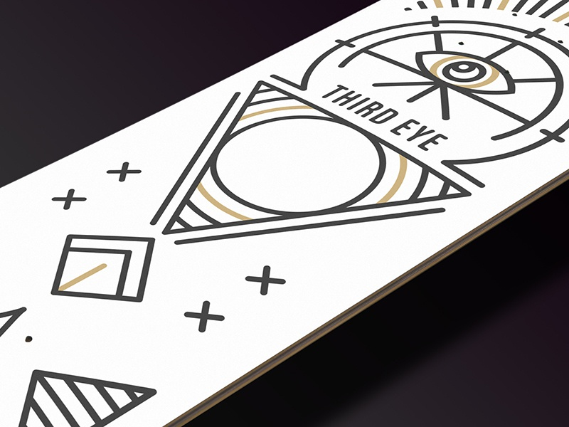 #4 - Third Eye Detail - Board Project illustration geometrie geometrical board geometric skateboard skate planche design