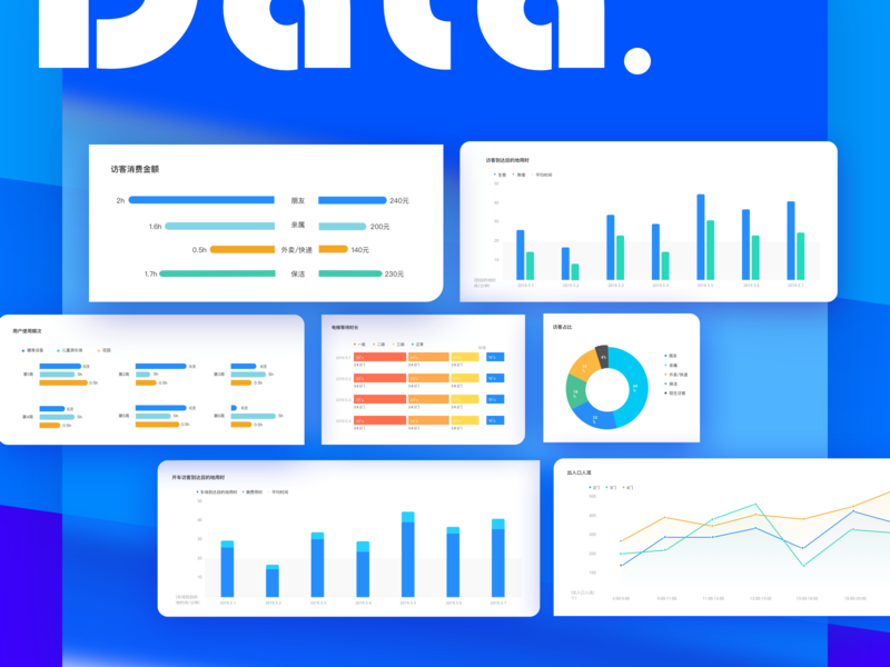 Data visualization 品牌 插图 clean 新鲜 设计 蓝色 清洁 data visualization ux ui