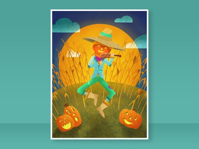 Harvest Moon childrens lit kid lit digital illustration kids book kids illustration childrens book childrens illustration illustration halloween
