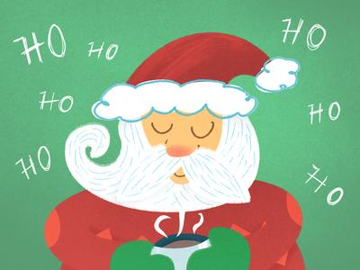 Jolly ho ho ho santa claus santa jolly merrychristmas christmas childrens lit kids illustration kid lit digital illustration childrens book childrens illustration kids book illustration