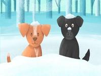 Snowy Days winter snow illustrator childrens lit kid lit digital illustration kids illustration childrens book kids book childrens illustration illustration dog