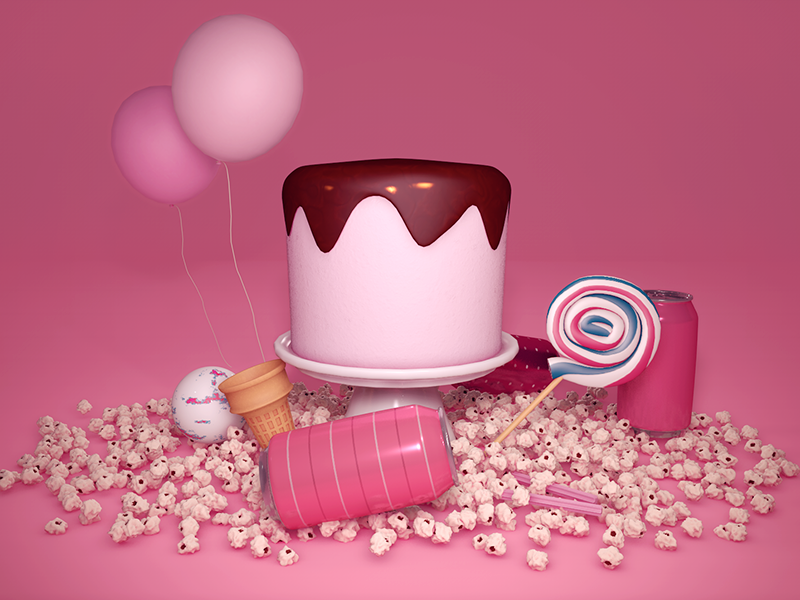 Candy / 3D Still Life still life lolax cgi sweets candy render 3d