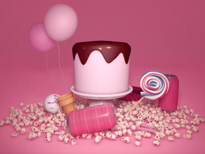 Candy / 3D Still Life still life lolax cgi sweets candy render 3d