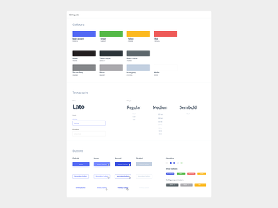 📊Style guide design palette colors minimal clean styleframe information style guide ux ui typography styleguide