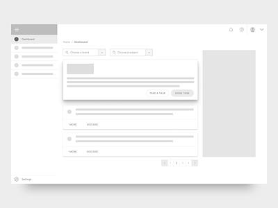 Influencer Platform lo-fidelity dashboard minimal user experience prototype user experience ux prototyping platform lo-fidelity lofi lo-fi flow app