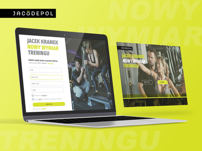 Jacodepol.com UX & Product design bodybuilder body building clean branding landingpage ux ui landing page ui training jacodepol