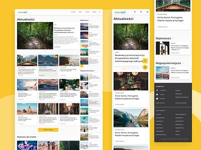 Turyści.pl - Tourist portal ✈️ portal ux ui typography research analysis redesign product design uxui service tourist tourism