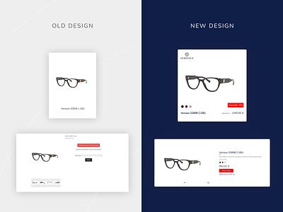 Okularium - UX e-commerce ux process uxprocess branding redesign elegant prada ui ux typography rayban sunglasses glasses ecommerce