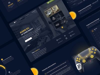 💰 PWAY - Service to Game Ideas Selling! gaming website ux ui steam landing page uxui chart investments cryptocurrency gaming glassmorphism