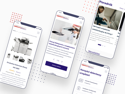 Biuromax UX/UI Design branding product design product page mobile redesign information design clean minimal typography ui ux