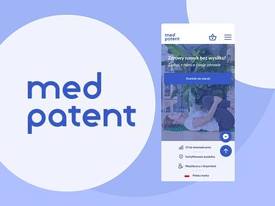 Med Patent UX/UI product design animation app minimal homepage branding design ux ui