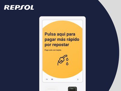 Repsol Product Design interface kiosk self-service homepage redesign ux ui design