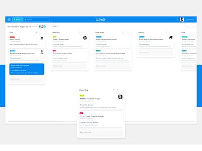 Trello - web UI typography material design taskmanager trello redesign clean minimal ux design ui dailyui