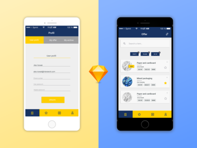 Interseroh - app UI