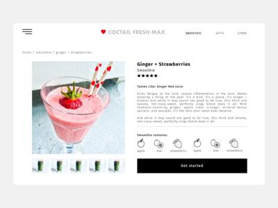Coctail Fresh Max - web UI