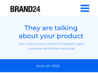 Wireframe mobile brand24