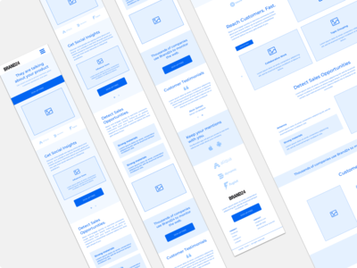 Brand24 mobile wireframe