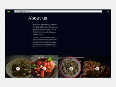 UI design - Homepage China Restaurant photoshoot redesign homepage clean typography minimal ui design restaurants instafeed tasty concept template ui about feed restaurant china