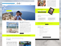 E-book landing page - Taste away ✈️