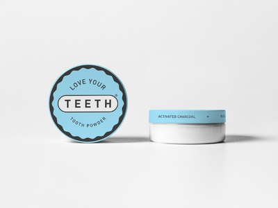 Love Your Teeth - Tooth Powder packaging logo branding design print organic vegan dentists care oral packaging health powder tooth