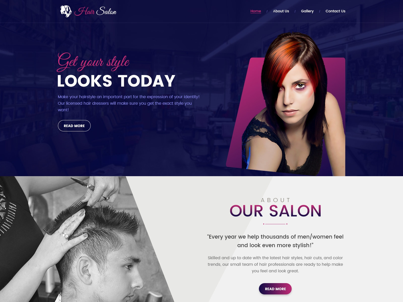 hair dresser web templates by karan soni dribbble dribbble