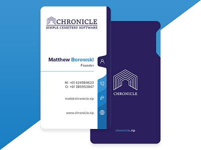 Chronicle Business Card businesscard businesscarddesign video typography web web deisgn ux logo illustration logo design mockup design