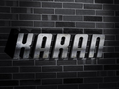 Photoshop 3d Metal Text Effect ux branding illustration logo design typography