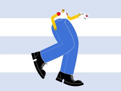 Tuck Me In big legs vector illustration