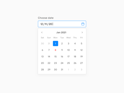 Date picker interface modern minimal clean date range date picker ui component component design system ux ui