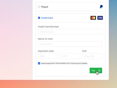 Payments & billing 💳 stripe paypal design system web app cpaas saas wallet money charge minimal clean card credit card credit payment pay gui form ux ui