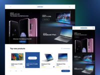 samsung website UI re-design