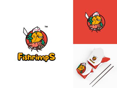 Fishrimps logo concept